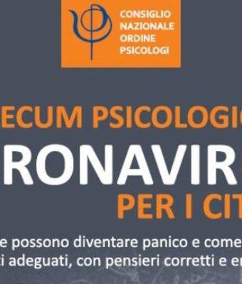 Coronavirus: vademecum dell'Ordine degli psicologi