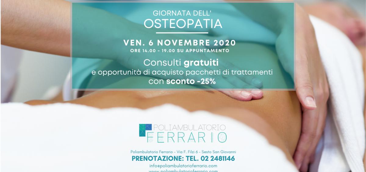 Giornata dell'Osteopatia - Open Day - Consulti gratuiti al Poliambulatorio Ferrario di Sesto San Giovanni