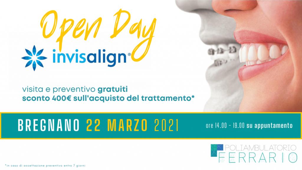 Open Day Invisalign 22 marzo 2021