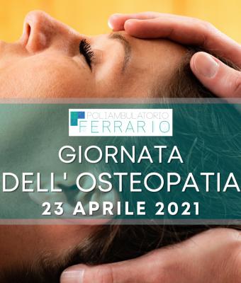 Giornata dell'Osteopatia Open Day Poliambulatorio Ferrario Sesto San Giovanni 23 aprile 2021